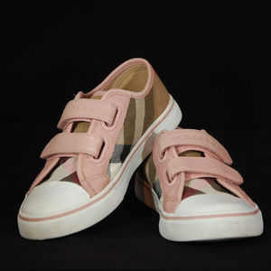 Burberry girls toddler pete velcro sneakers sz 31